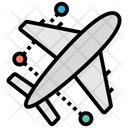 Air Travelling Plane Airplane Icon