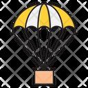 Airballoon Parachute Fly Icon