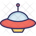 Aircraft Alien Spaceship Science Icon