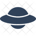 Aircraft Alien Spaceship Flying Saucer Icon