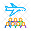 Aircraft Passengers Immigration Icon