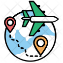 Airline Route Flight Icon