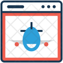 Airline Web Online Icon
