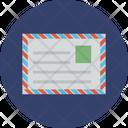 Airmail Correspondence Envelope Icon