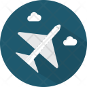 Airplane Transport Cloud Icon