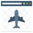 Airplane Browser Internet Icon