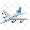 Logistics Delivery Airplane Icon