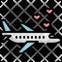 Airplane Travel Wedding Icon