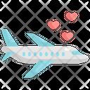 Airplane Wedding Marriage Icon