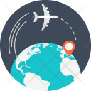 Airplane Business Global Icon
