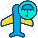 Airplane Insurance Protection Icon