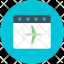 Airplane Pass Travel Icon