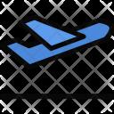 Airplane Departure Beach Icon