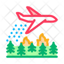 Airplane Forest Fire Icon