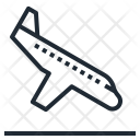 Airplane Landing Transportation Icon