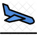 Airplane Landing Beach Icon