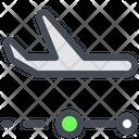 Airplane Flight Location Icon