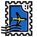 Airplane Stamp Icon