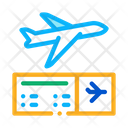 Airplane Ticket Hajj Icon