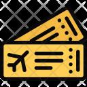 Airplane Tickets Beach Icon