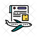 Contract Airplane Transportation Icon