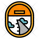 Airplane Window View Icon