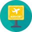Signboard Airport Travel Icon