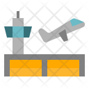 Airport Airplane Building Icon