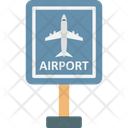 Airport Airport Sign Planes Icon