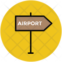 Airport Signpost Guidepost Icon