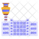 Airfield Airport Aerodrome Icon