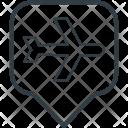 Airport Location Pin Icon