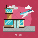 Airport Building Construction Icon