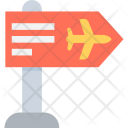 Airport Signpost Direction Icon