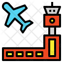Airport Airplane Airfield Icon