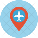 Airport Location Map Icon