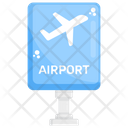 Airport Board Advertisement Board Roodboard Icon