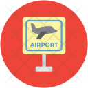 Airport Board Airplane Icon
