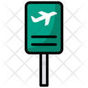 Airport Sign Board Airport Sign Signboard Icon