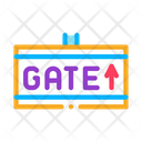 Gate Arrow Direction Icon