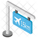 Airport Guidepost Airport Direction Airport Area Icon