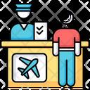 Airport Terminal Helpdesk Icon