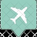 Airport Location Bubble Icon