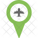 Airport Location Pin Icon