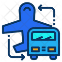 Airport Shuttle Service Icon