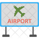 Airport Location Airport Sign Billboard Icon
