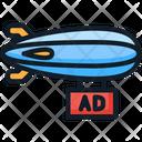 Airship Ad Advertising Icon