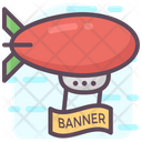 Airship Banner Zeppelin Banner Aircraft Banner Icon