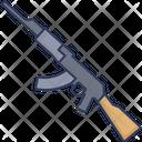 Ak 47 Firearm Gun Icon