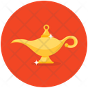 Aladdin Lamp Fairy Tale Genie Lamp Icon